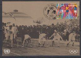 UNO Geneva1996 Sports Et Environnement / Olympic Games 1v Maxicard (42927) - Maximumkaarten