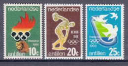 Netherlands Antilles 1968 Sport Olympic Gemes Mexico Mi#187-189 Mint Never Hinged - Curazao, Antillas Holandesas, Aruba