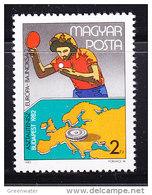 Hungary 1982 European Championship Tabletennis 1v ** Mnh (42929B) - Hongarije