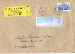 N°68 P -pli En Colissimo -affranchissement -+vigentte Mondeville- - Colis Postaux