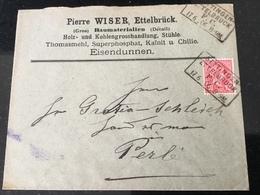 Luxembourg Lettre Ettelbruck - 1895 Adolphe De Profil