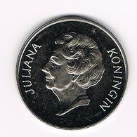 //  PENNING KONINGIN JULIANA  RABOBANK 100 JAAR  FUSIEJAAR 1972 - Pièces écrasées (Elongated Coins)