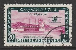 Afghanistan 1964 Airmail - Inauguration Of Kabul Airport 20 A Dark Blue/carmine Purple SW 940 O Used - Afghanistan