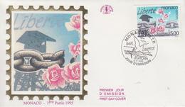 Enveloppe  FDC  1er  Jour   MONACO   EUROPA    1995 - 1995