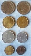 LOTE DE 8 MONEDAS DE ARGENTINA DE 1 PESO, 1 CENTAVO Y 1 AUSTRAL - Argentina