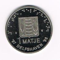 //  PENNING VOC DELFSHAVEN 1 MATJE '98 DELFSHAVEN '98 - Elongated Coins