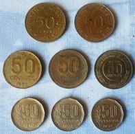LOTE DE 8 MONEDAS DE ARGENTINA DE 50 PESOS Y 50 CENTAVOS - Argentina
