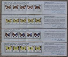 Butterflies Papillons Schmetterlinge Germany 4 X Booklets 1991 / ** MNH - Schmetterlinge