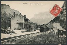 Thônes - La Gare Et Le Parmelan - Voir 2 Scans - Thônes