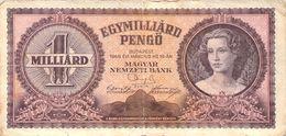 1 Milliarde Pengö Ungarn 1946 VF/F (III) - Ungarn