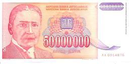 Yugoslavia  P-133  50000000 Dinara  1993  UNC - Joegoslavië