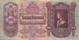 100 Pengö Ungarn 1930 VF/F (III) - Ungarn