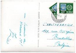 NORWEX 1955 OSLO - PPC Franked With 1 1/2 Stamp Sent To Belgium - Norvège