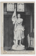 (RECTO / VERSO) PONTMAIN - N° 178 - STATUE DE JEANNE D' ARC DANS LA BASILIQUE - CPA VOYAGEE - Pontmain