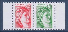 = Issus Du Carnet 40 Ans De La Sabine De Gandon (de 12) 0.85€ N°5184 Et 0.73€ N°5183 Petit Format Neuf Horizontal Paire - 1977-81 Sabine Of Gandon