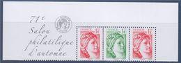 = Issu Du Bloc (de 12) 40 Ans De La Sabine De Gandon 2 N°5179 Et 1 N°5180 Petit Format 1.00€ Neuf Horizontal 71è Salon - 1977-81 Sabine Of Gandon