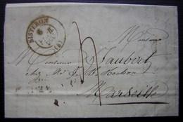 Sisteron 1835 Lettre Pour Marseille - 1801-1848: Précurseurs XIX