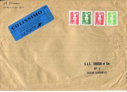 N°80 P -pli En Colissimo -affranchissement -cachet Fermanville- - Colis Postaux