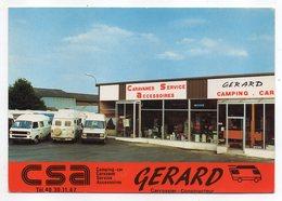 """NANTES  CARQUEFOU -- Carte Publicitaire CSA """"Camping Car Gérard"""" (voitures,devanture Magasin) ......pas Très Courante - Carquefou"""