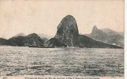 *** BRESIL  ***   RIO DE JANEIRO  Entrada Da Barra Pao Assucar Corcovado - Stamped TTB - Rio De Janeiro