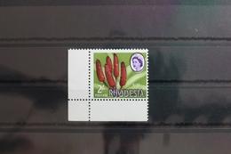 Rhodesien 33 ** Postfrisch Verschobener Aufdruck #SY089 - Zimbabwe (1980-...)