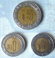 LOTE DE 3 MONEDAS BIMETALICAS DE MEXICO - México