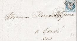 FRANCE Lettre De HAvre 3 Mai 1855 Vers CONDE (Nord) - 1849-1876: Periodo Clásico