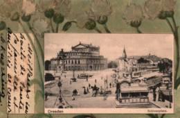 CPA - DRESDEN - Vue De La Ville - Schlossplatz (carte Illustrée) - Dresden