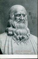 45237 Italia, Rare Card Circuled 1919 Showing The Buste Of Leonardo Da Vinci,in The Municipality Of VINCI, RRR - Arte