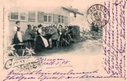 CPA - BAVIERE - Scène Auberge - Gruss Aus  (carte Illustrée) - Défaut Pli Coin Inf. - Germany