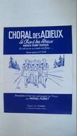 Choral Des Adieux - Version Scoute - Harmonisation à 2 Voies. Combre éditions - Corales