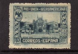 SPAIN ESPAÑA SPAGNA 1930 MEXICO PAVILION PADIGLIONE DEL MESSICO CENT. 40c MNH - Nuovi
