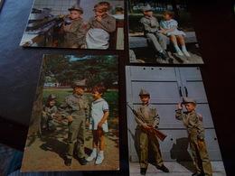 B727   7 Cartoline Bambini Militari Non Viaggiate - Bambini