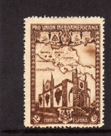 SPAIN ESPAÑA SPAGNA 1930 PAVILION AND MAP OF CENTRAL AMERICA PADIGLIONE CENT. 2c MLH - Nuovi