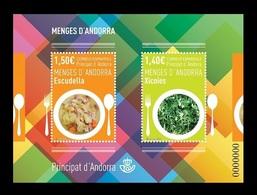 Andorra (ES) 2019 Mih. 480/81 (Bl.17) Gastronomy. Traditional Dishes MNH ** - Andorre Espagnol
