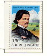 PIA - FINLANDIA - 1983 - Centenario Della Nascita Del Compositore Tolvo Kuula  - (Yv 895) - Musica