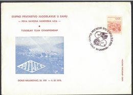 RB8   Yugoslav Championship Team In Chess - Card And Special Postmark 1979 Donji Milanovac - Scacchi