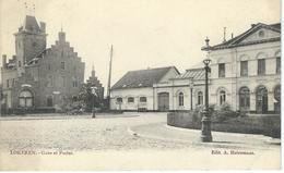 LOKEREN : Gare Et Postes - RARE VARIANTE - Cachet De La Poste 1904 - Lokeren