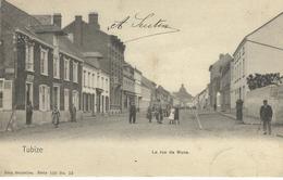 TUBIZE : La Rue De Mons - Nels Série 110 N° 12 - TRES RARE VARIANTE - Cachet De La Poste 1905 - Tubize