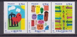 2016-N°5021/5023** LIBERTE EGALITE FRATERNITE - Francia