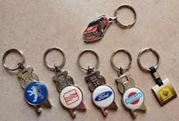 Lots De 6 Porte-clefs Voiture Seat Renault Nissan Ford Peugeot Citroën C3 Décapsuleur - Automobile - F1
