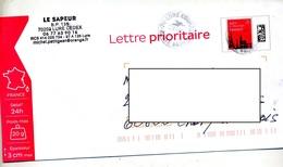Pap Monument Paris Prio Cachet Lure Courrier - Prêts-à-poster:  Autres (1995-...)