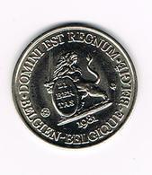 // PENNING  DOMINI EST REGNUM LIEGE REGNUM BELGICALE 1981 - 3.000 EX. - Souvenirmunten (elongated Coins)