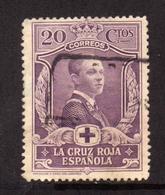 SPAIN ESPAÑA SPAGNA 1926 CRUZ ROJA RED CROSS CROCE ROSSA CROIX ROUGE CENT. 20c USATO USED OBLITERE' - 1889-1931 Regno: Alfonso XIII