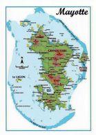 1 Map Of Mayotte * 1 Ansichtskarte Mit Der Landkarte Von Mayotte * - Landkarten