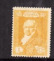 SPAIN ESPAÑA SPAGNA 1930 FRANCISCO GOYA CENT. 1c MLH - 1889-1931 Regno: Alfonso XIII