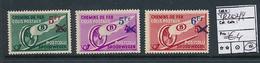 BELGIQUE BELGIUM  1938 ISSUE COB TR202/4 LH - Ferrovie