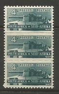 South Africa - 1942 Artillery 4d Strip MH *   SG 103  Sc 95 - South Africa (...-1961)