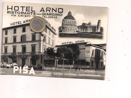 M8814 Toscana Pisa Viaggiata 1961 Hotel Arno - Pisa