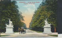 63-53 Germany Deutschland Dresden Garten Hauptallee Centauren Sent 1912 - Vari